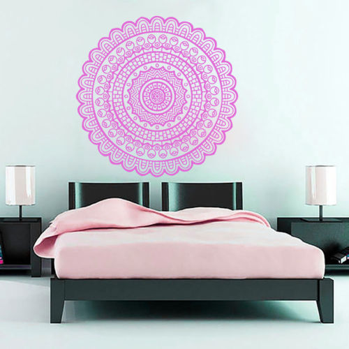 Mandala Yago Indian Wall Sticker Decal  Home Decor Vinyl Decals Wall Decoration Stickers