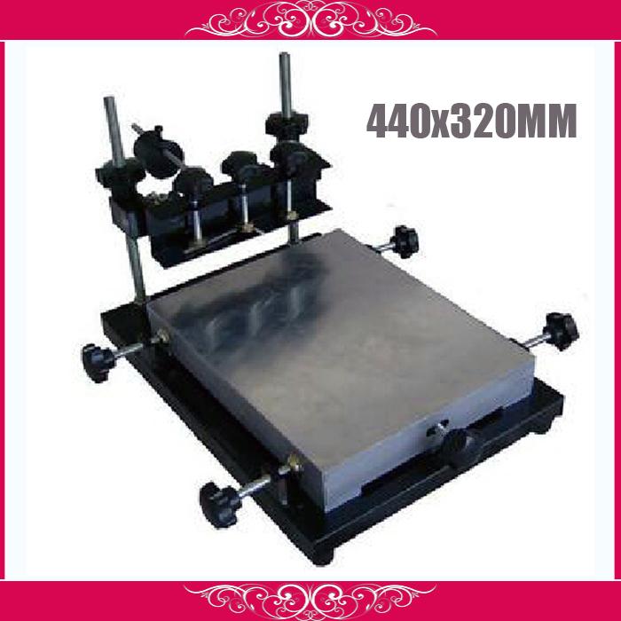 PUHUI manual stencil printer, T-shirt screen printing machine 440X320mm middle size(China (Mainland))