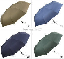2015 Fully Automatic Umbrella large 3 Fold Umbrella UV sun rain shine dual-use umbrellas men and women Man Women's bumbershoot