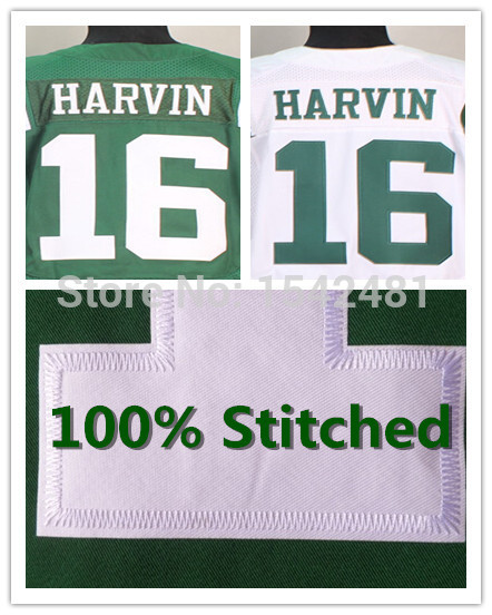 16 Percy Harvin jersey 2014 new york mens American Football Jerseys cheap authentic elite Stitched big size 60 green S-XXXL(China (Mainland))