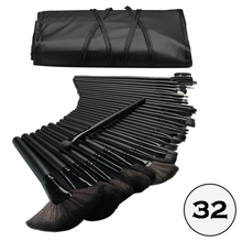 1034-High Quality Professional 32pcs Cosmetic Facial Make up Brush Kit Makeup Brushes Tools Set With Black Pouch Bag
