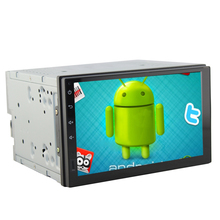 Quad Core android 4.4 with 7inch 1024*600 Capacitive digital screen  2din Car PC Tablet Universa player(China (Mainland))