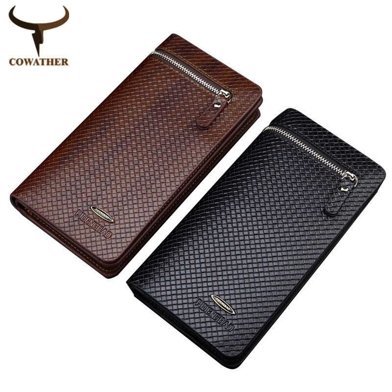 2015 top synthetic leather men long wallets men two styles luxury popular male handbage,carteira masculina free shipping(China (Mainland))