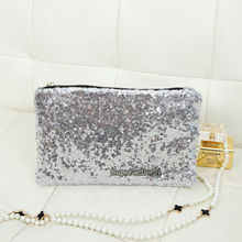 NEW Sexy makeup bag Glitter Sparkling Sequins Dazzling Clutch Evening Party Handbag Purse