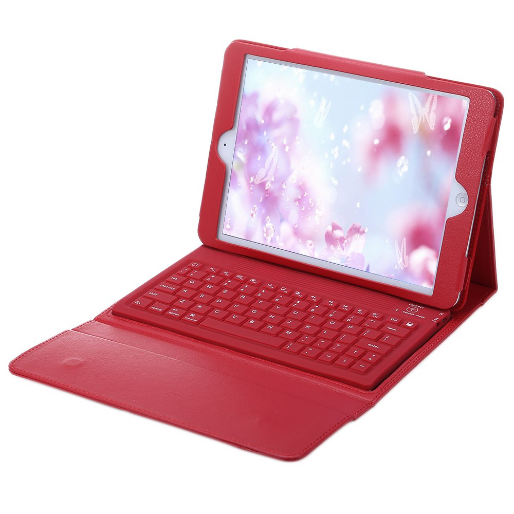 Mini Keyboard Wireless Bluetooth 3.0 Keyboard with PU Leather Case Tablets Cover USB Charging Cable for iPad Air/2 Tablet PC(China (Mainland))