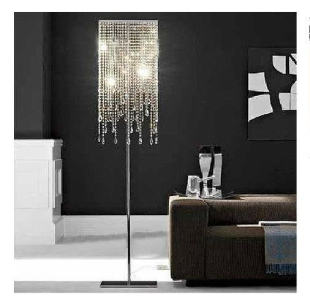 stand lights lamp creative led floor lamp crystal living room. Black Bedroom Furniture Sets. Home Design Ideas