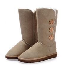 Envío gratis Australia Classic UG Bailey botón botas de nieve mujeres de cuero reales Winter Classic zapatos de estilos UG 1873 cargadores de la nieve(China (Mainland))