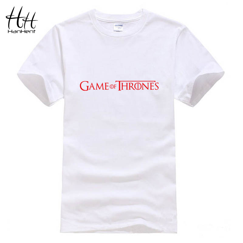 Hanhent Game Of Thrones Casual Funny Printed Men T Shirt Camisetas Manga Tee Shirts Man Round Neck Short Sleeve Boy T-shirts(China (Mainland))