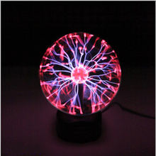 Creative electrostatic falshing ball Magical Glass Plasma Ball Sphere Lightning Light Lamp night light birthday gifts home decor(China (Mainland))