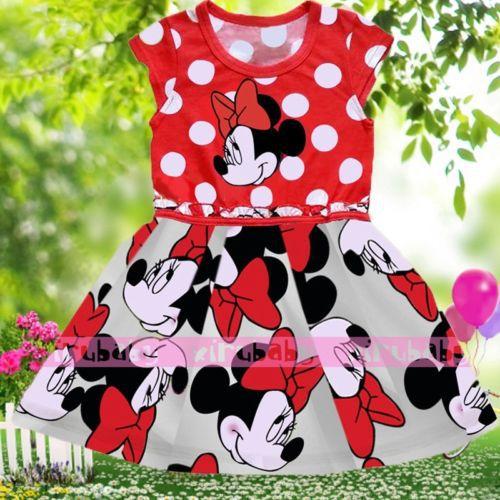 Min nie 2015 Baby Kids Girls Party T-shirt Dress 3-4Y #bxh02<br><br>Aliexpress
