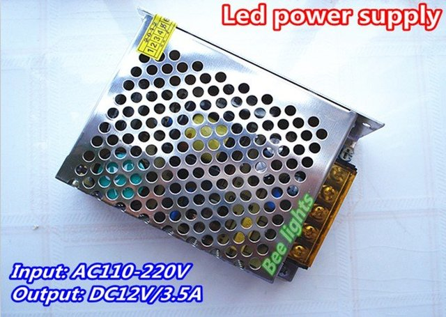 DC12V 3.5A switching power supply, Input AC110-220V working, 40W constant voltage led driver