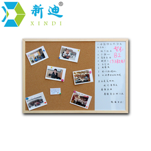 XINDI 2016 30*40cm Whiteboard and Cork Board Combination 3:1Dry Wipe Drawing Board Wood Frame Magnetic Whiteboard Free Shipping(China (Mainland))