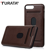 For iPhone 7 / 7 Plus Case ,TURATA Ultra Slim Fit Leather Wallet Card Holder Hard Plastic Case Cover for iPhone 7 / 7 Plus(China (Mainland))