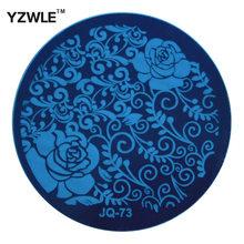 Aço 1 Pcs inoxidável YZWLE Stamp estamparia imagem modelo placas Manicure DIY Nail polonês ferramentas ( JQ-73 )