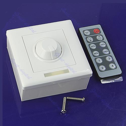 G104 DC 12V 8A IR Remote LED Light Dimmer 12 Key Adjustable Brightness Control Screw<br><br>Aliexpress