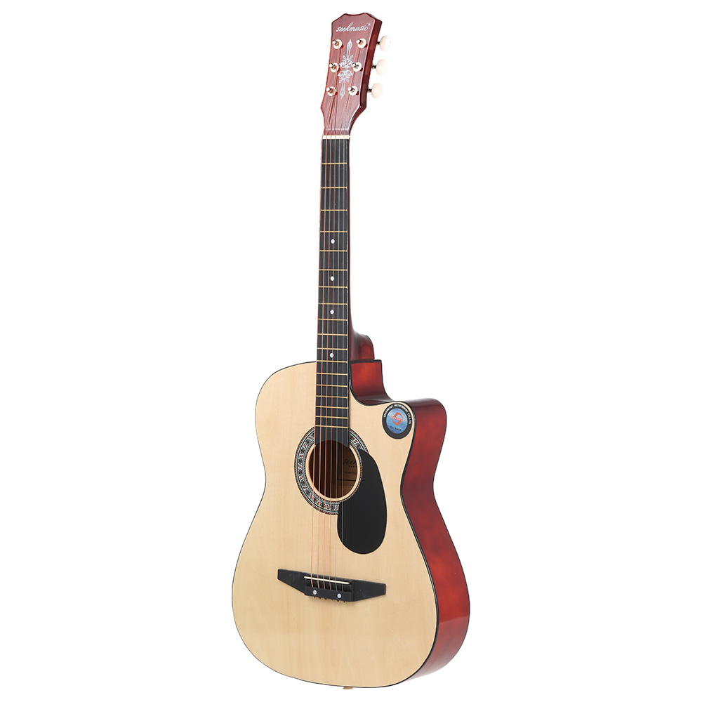 "38"" Guitar Guitarra 6-String Folk Acoustic Guitar High Quality Basswood Guitar for Beginners Music Lovers Great Gloss Finish(China (Mainland))"
