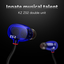Buy ZS2 Earphones Dual Driver Earphones ZS1 Headset Audifonos Stereo Earphone 100% KZ-ZS1 Ear Bass Earbuds for $17.20 in AliExpress store