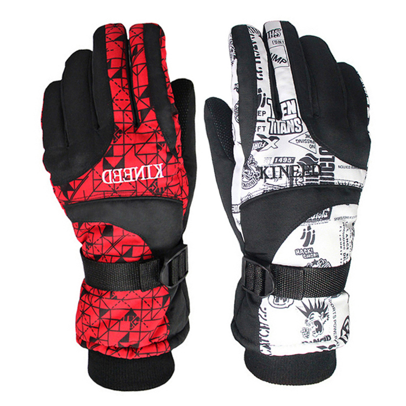 Breathable Cotton Windproof Ski Gloves Winter Warm Waterproof Snowboard Gloves Outdoor Sports Skiing Gloves For Women or Men(China (Mainland))