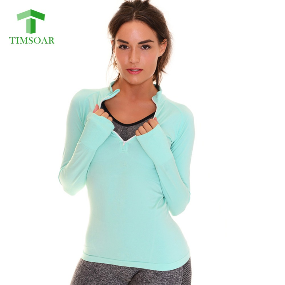 Timsoar women professional long sleeve yoga shirt fitness Yoga shirts with sleeves