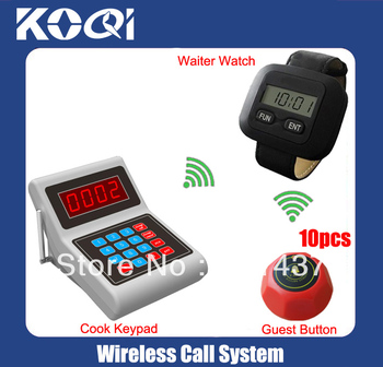 Chef call systems K-MAIN+300+M kitchen set kitchen call systems included 1 Keypad and 1 competition watch and 10 waiter bell