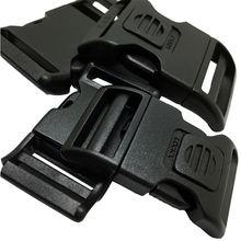 100pcs per lot 25mm plastic side release strap buckle for pet collar/bags curved lockable buckles(China (Mainland))