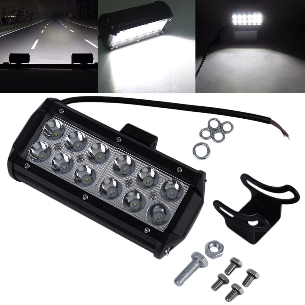 1pc 7Inch 36W for Cree LED Work Light Bar for Indicators Motorcycle Driving Offroad Boat Car Tractor Truck 4x4 SUV ATV Flood