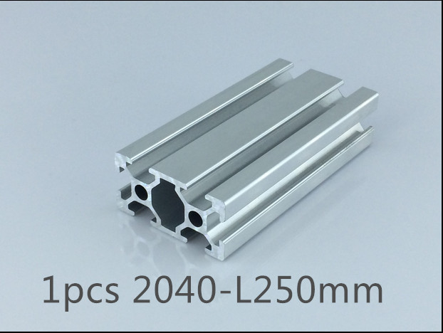 1pcs 2040 aluminum extrusion profile length 250mm width 40mm high 20mm industrial aluminum profile for cnc engraving machine(China (Mainland))