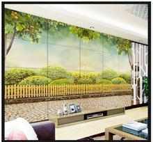 Buy 3d photo wallpaper custom 3d murals wallpaper Pastoral scenery Green tea garden trees rural style living room TV setting wall for $14.38 in AliExpress store