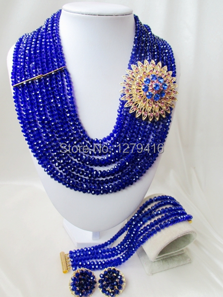 2014 Rushed  Classic Women Crystal Jewelry Sets New Arrived Nigeria Jewelry Set Necklace Africa Beads Set  AAA555<br><br>Aliexpress