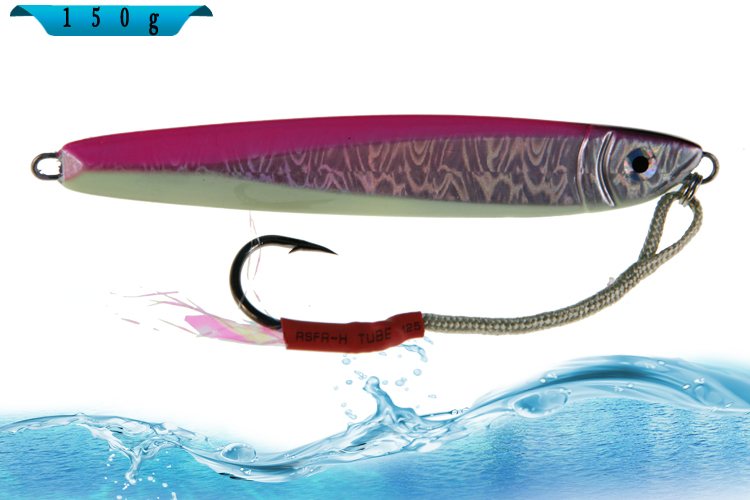 All Colors 150g Metal fluorescent Jig Lure Hard Lead Fish Jig Deep Sea Fishing Lure Jig Heads Marlin Tuna Free Shipping(China (Mainland))