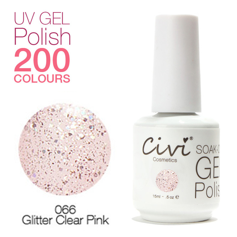 Gel Clear Coat Nails Clear Pink uv Gel Nail