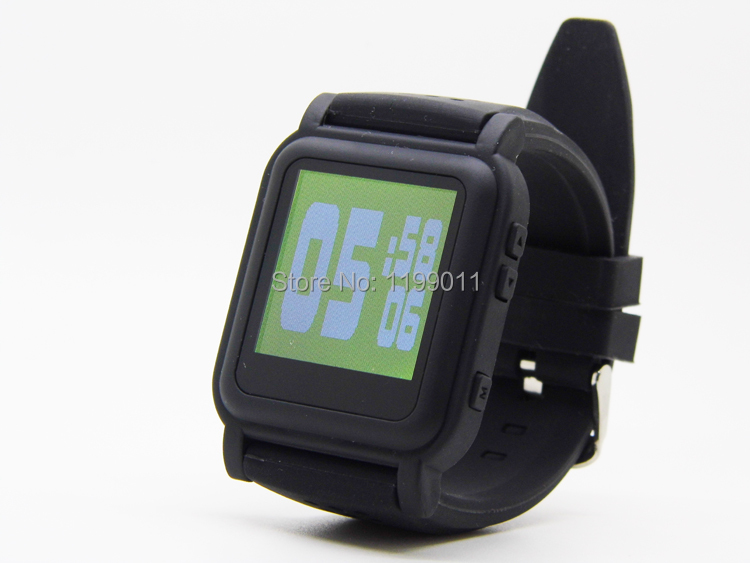 Hot Sale!!! Exam Black Mp4 Watch 4GB Mp4 Watches TXT Ebook for Exam Long Keep MP4 Watch Player Free Shipping By Post(China (Mainland))