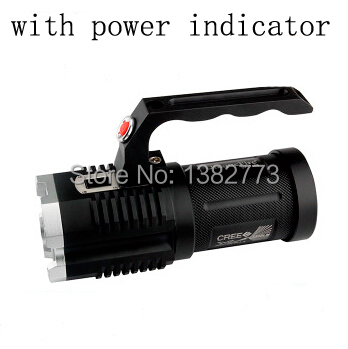 UniqueFire 4x Cree XM-L2 3600-Lumen 5-Modes Portable Camping Hunting 4x18650 battery Led Flashlight Torch With Power Indicator(China (Mainland))