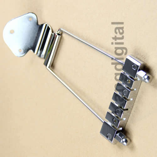 1 pc Chrome 6 String Guitar Tailpiece Trapeze Open Frame For Archtop Guitar(China (Mainland))