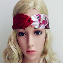 25 color Women chiffon silk Headband floral Headbands Wedding Turban Headwrap Bohemian Hair Accessory for Women Hair Accessories(China (Mainland))