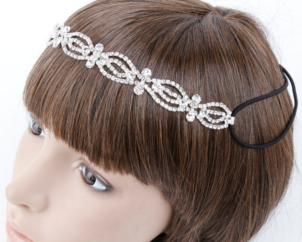New Listed Wholesale Retail of fashion Rhinestones Elastic hair Band Wear Suitable for the Bride Wedding,Fashion Party RH-0150(China (Mainland))