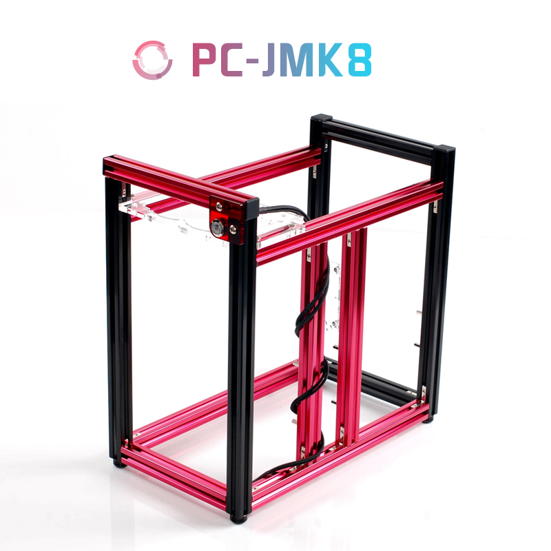 QDIY PC-JMK8 New Product ATX Aluminum Building Blocks of DIY Vertical Water-cooled Games Computer Chassis or Cases(China (Mainland))