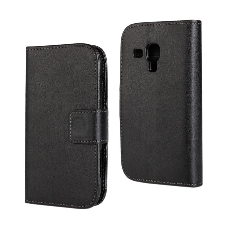 30 pcs/lot Card Slot Flip 100 Grain PU Leather Stand Wallet Case Cover Samsung galaxy trend plus s7580