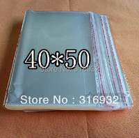 E4 Clear Resealable Cellophane/BOPP/Poly Bags 40*50 CM Transparent Opp Bag Packing Plastic Bags Self Adhesive Seal