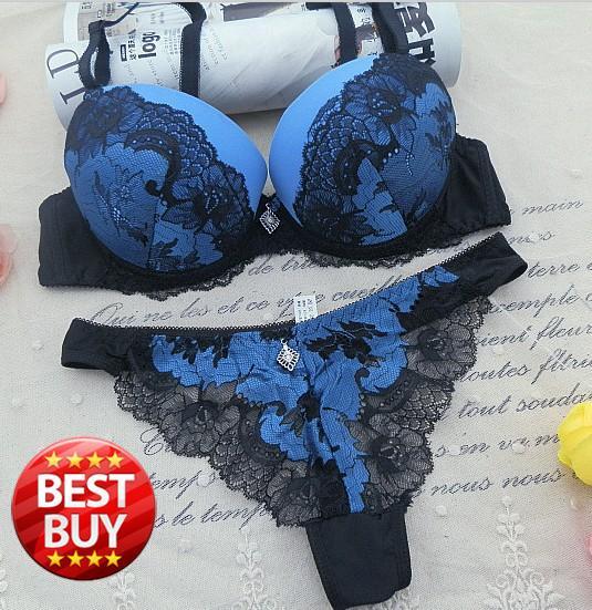 ABC 70-95 thong Padded push up  bra sets brand intimate lace women bra brief sets  embroidery sexy women cup underwear set(China (Mainland))