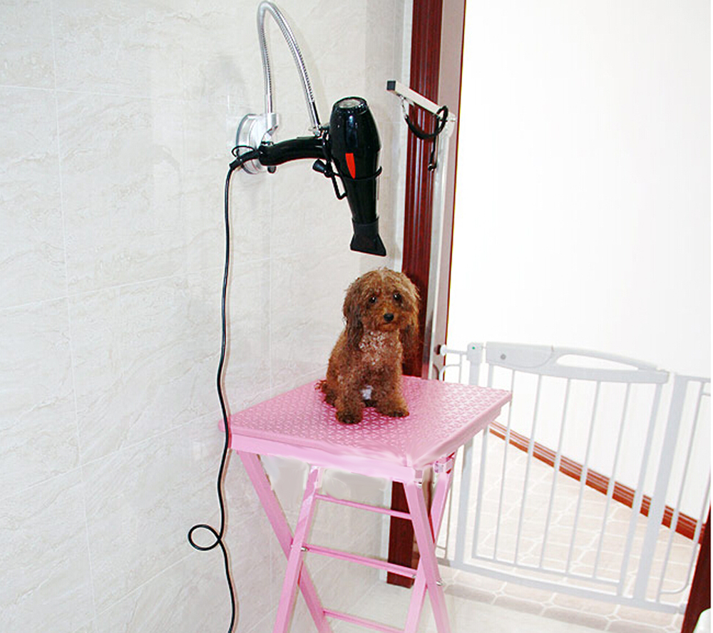 Adjustable Portable Mobile Folding Dog Cat Pet Grooming Table Stand Professional foldable Hair dryer Stand(China (Mainland))