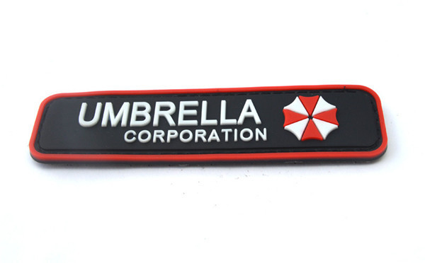 morale patches 3pcs/lot Military armband Rubber Badge Umbrella Corporation PVC Patches 3D Custom made Tactical patches(China (Mainland))