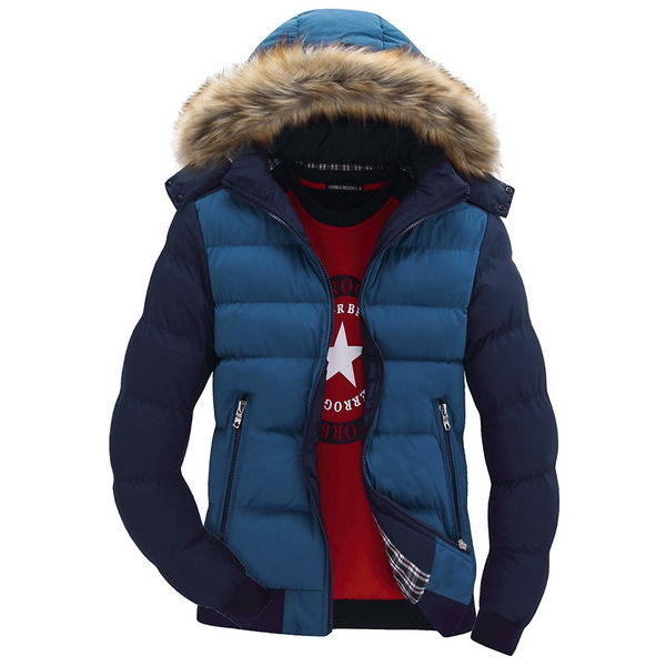 Contrast Color Hooded Design Men Parka Size M 3XL Casual Fit Men s Winter Jacket Stand