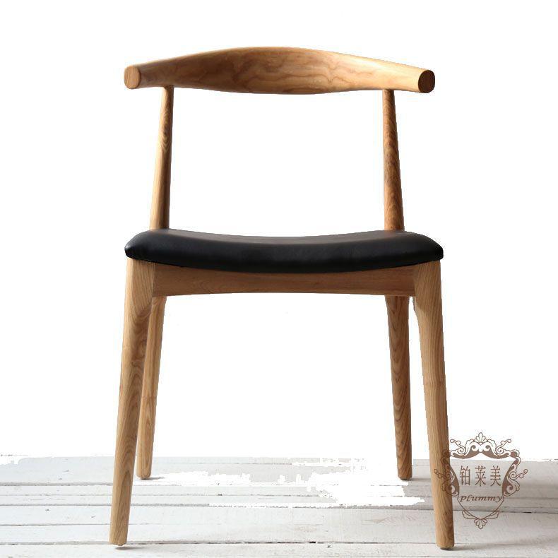 Platinum Grammy pure wood horn chair designer furniture modern minimalist hotel coffee dinette work study(China (Mainland))