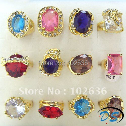 Free shipping!wholesale lots charming cz gold rings,crystal rings,,jewelry ring,rings