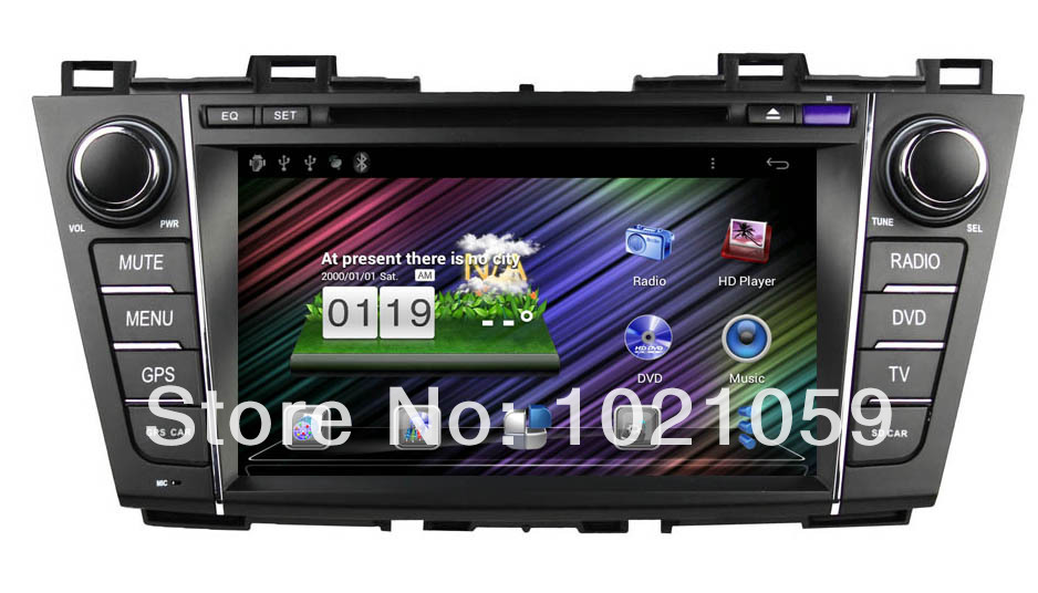 Free shipping pure Android 4.0 car video for mazda 5 with capacitive touch screen(China (Mainland))