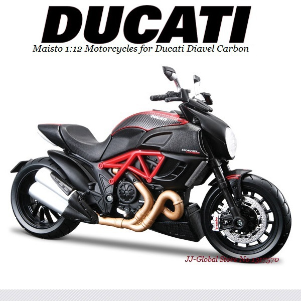 1:12 Alloy ABS Plastic Super Motorcycle Model for Ducati Diavel Carbon Best of Packing Box as Toys Gift and Collection for Boys(China (Mainland))