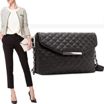 Мода женщин плед кожаная сумка сеть женщины сумка дизайнер креста тела конверт сумка 4 [ C1455 ]