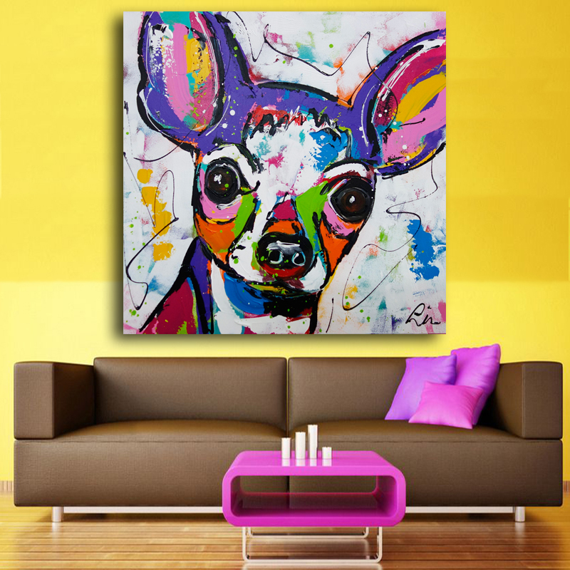 Abatract Fashion color Italy Mafia Animal Dog Cat Pug Canvas Big Print Poster Wall Picture Home Decor Painting No Frame