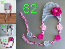 free shipping,2000pcs Cute 100% Handmade Baby Child Crochet Knit flower Hat Beanie Newborn to 6 Year New,baby girls crochet hat(China (Mainland))